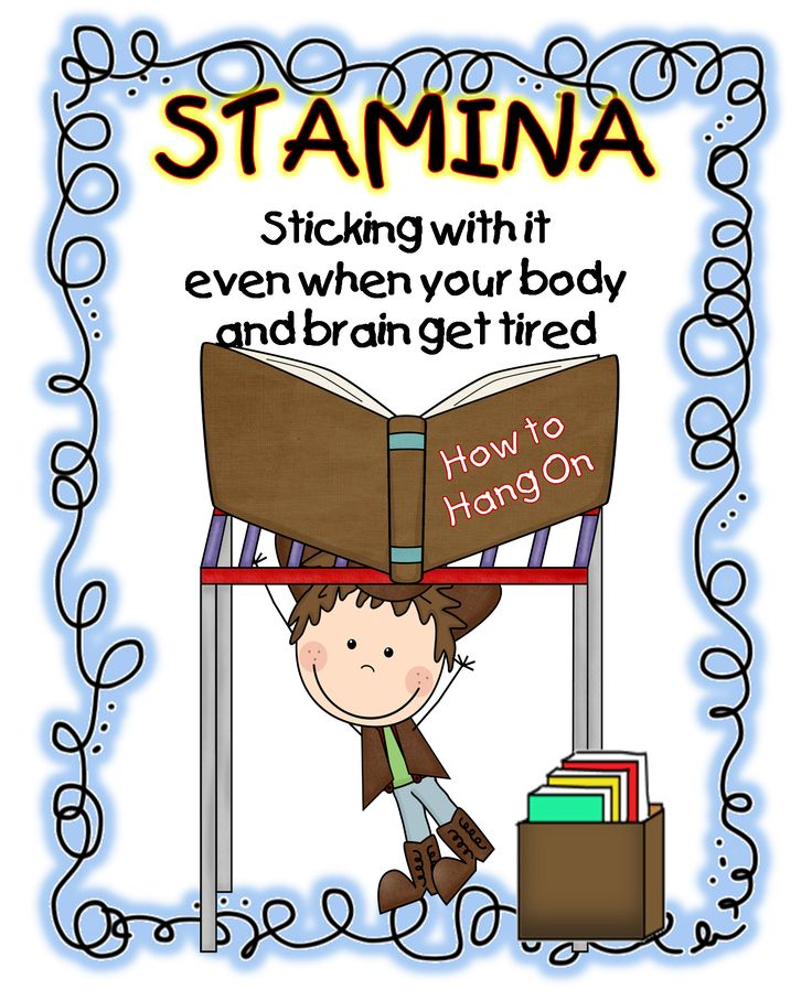 First Grade Wow: daily 5 love this poster on building stamina