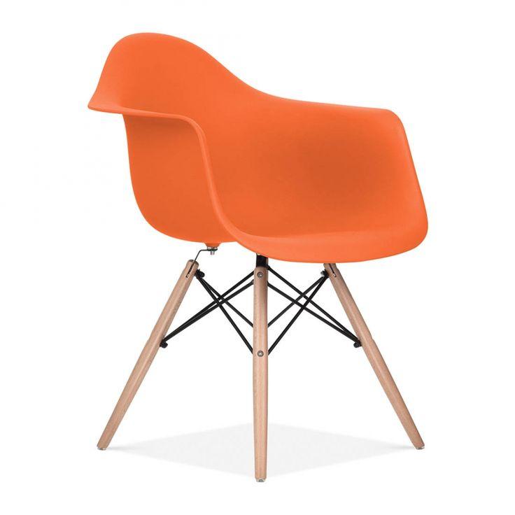 Charles Eames Orange DAW Chair