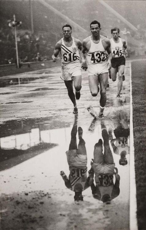 'Decathlon reflections', Olympic Games, London, 1948