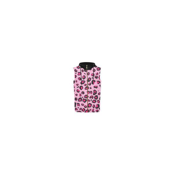 Pink Leopard All Over Print Sleeveless Zip Up Hoodie for Women (Model... ❤ liked on Polyvore featuring tops, hoodies, pink zip up hoodie, sleeveless hooded sweatshirt, pink zip up hoodies, zip up hooded sweatshirt and all over print hoodies