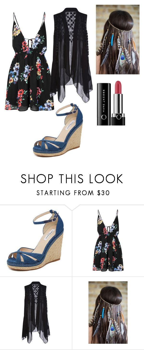 """""""Sem título #607"""" by percabeth-chrisse-thalico on Polyvore featuring moda, L.K.Bennett, Glamorous e Marc Jacobs"""