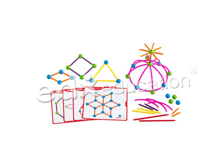 Skeletal Starter Geo Set improves children's fine motor skills, as well as developing their creative and problem solving skills #edxeducation #learnbyplay #mathmanipulatives #learningisfun #finemotorskills
