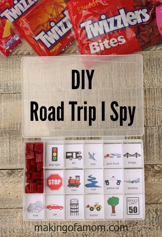 Make your upcoming road trip fun with this easy to make DIY Road Trip I Spy Game. #TwizzlersSummer #ad