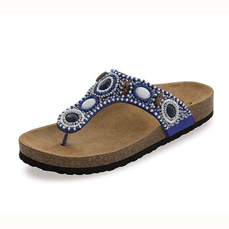 Sandalias Étnicas Agora Azul