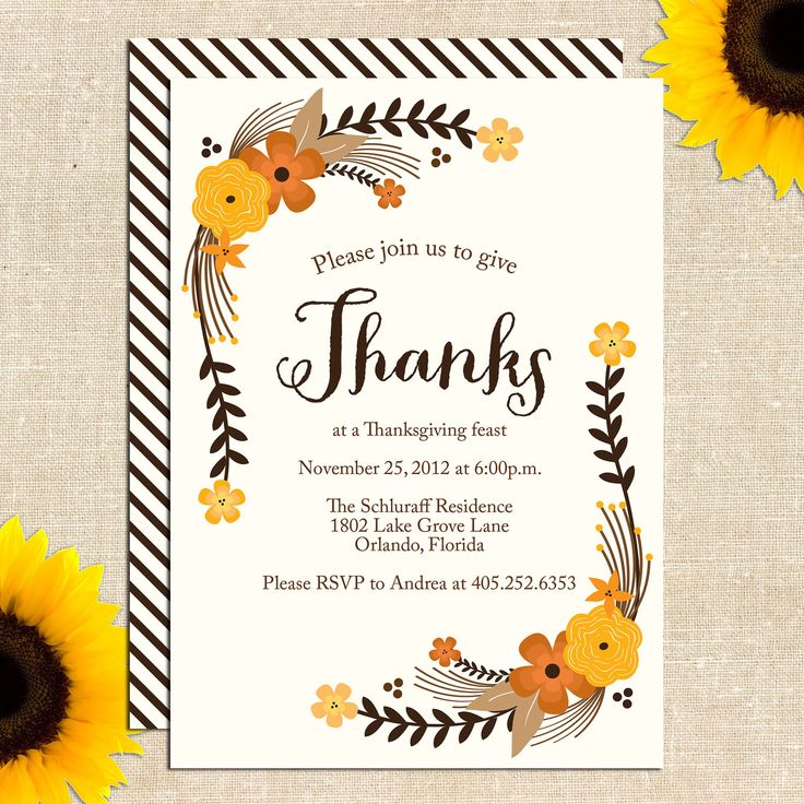 13 best Invitations images on Pinterest Thanksgiving invitation