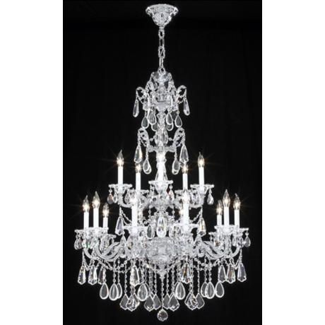 James r moder redding collection silver 15 light chandelier