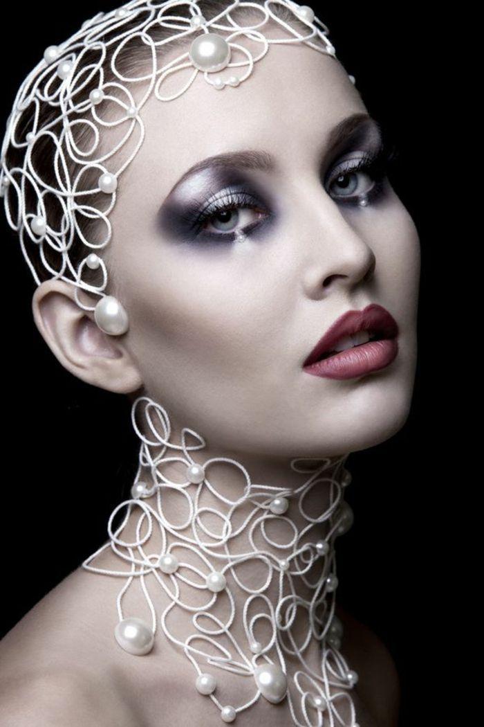 Les 25 meilleures id es de la cat gorie maquillage fantastique sur pinterest maquillage - Maquillage chapelier fou ...