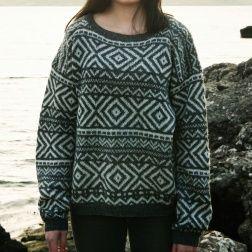 Oversize-trøje med mønster