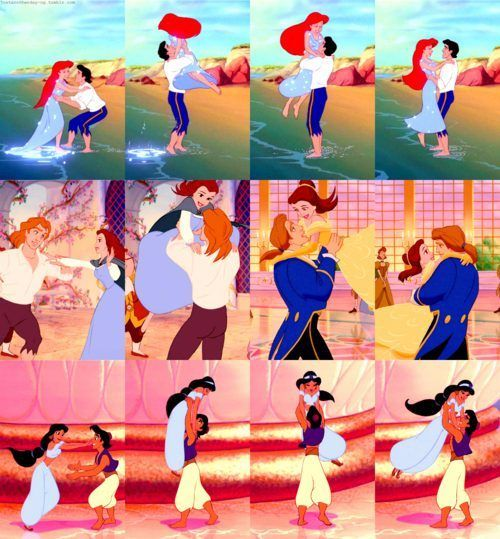 Disney Princesses - every girl wants this to happen at least once in their life :)