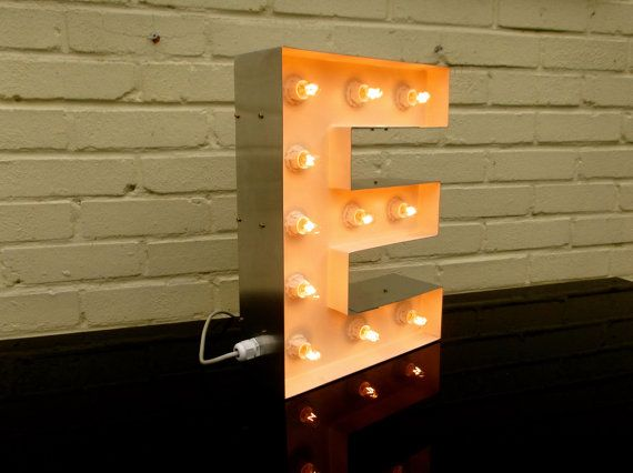 Stylish Metal Marquee letters with incandescent bulbs