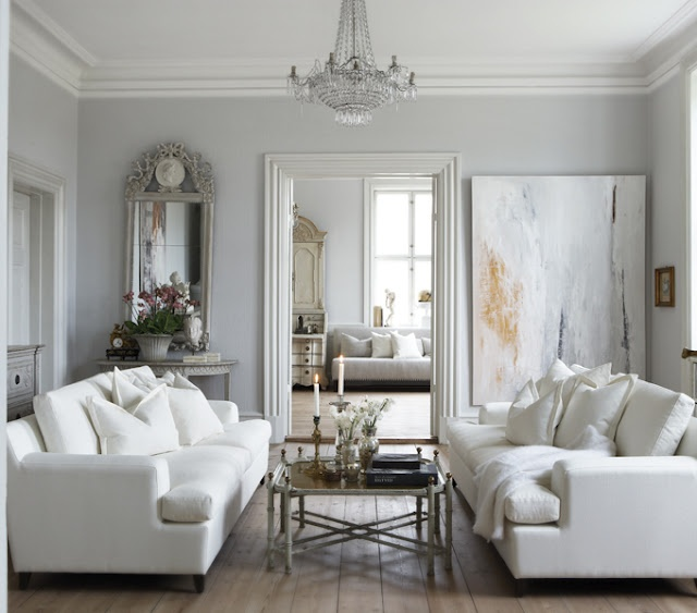 Awesome Light Grey Walls And White Molding Color Scheme For Living Room Part 28