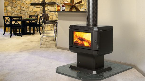 Albany Freestanding Wood Heater, Solid Fuel Fireplaces