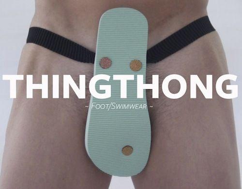 Copywriter Creates Flip-Flop That Doubles As A Swim Costume - DesignTAXI.com