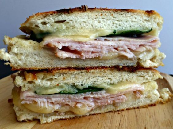 Havarti, Turkey and Spinach Panini - restaurant-style sandwich without leaving…