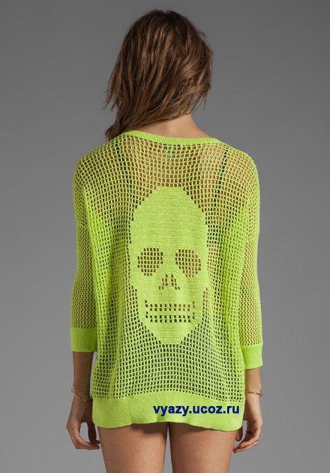"""Irish crochet &: ШАЛЬ С ЧЕРЕПОМ """" ВЕСЕЛЫЙ РОДЖЕР"""""""