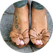 Small Star Tattoo Design: On Foot Side