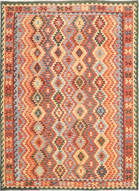 Käsin solmitut Afghan Old Kelim -matot ovat Pohjois-Afganistanissa asuvien turkmeenien valmistamia. Matoissa on käytetty perinteistä kelim-tekniikkaa. Väriskaala on luonnollinen ja kuviot geometrisia symboleja ja kahdeksankulmioita. Lue lisää Afghan-matoista... Lue lisää kelim-matoista...