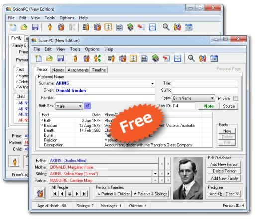 Free Genealogy program that you can put on a flash drive ~ use your favorite word processor ~ Windows.  What a great idea. Using this means it's portable and no more worries that you'll lose all your info in a crash.