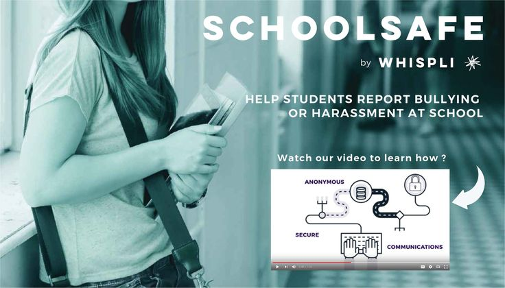 Watch the SchoolSafe Video and learn more about anonymous reporting of wrongful activity in schools