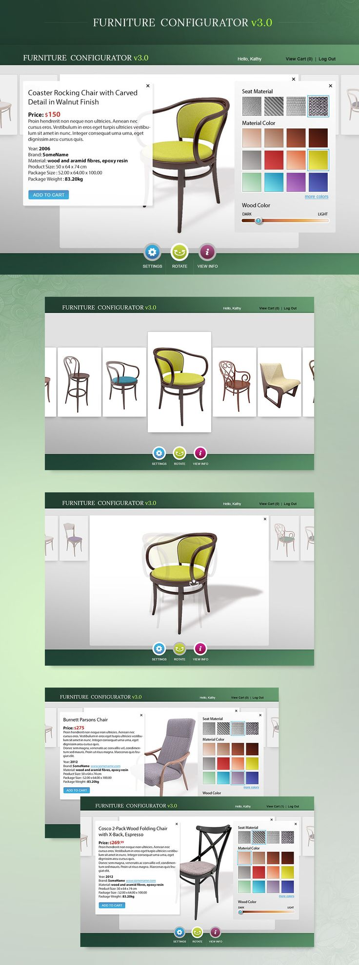furniture configurator full preview
