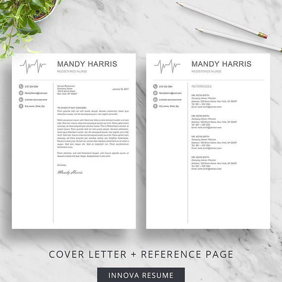 8 best Etsy Resume Templates images on Pinterest Cv resume