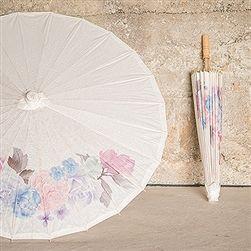 Wedding Paper Parasol With Vintage Floral Print