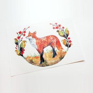 Foxy Garden Print