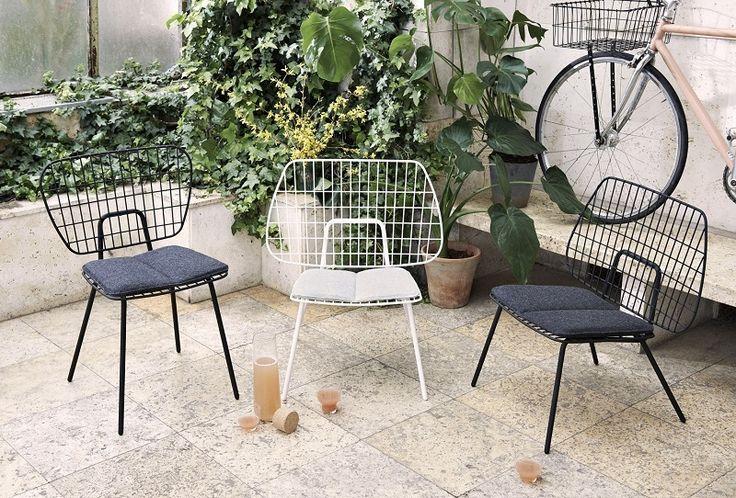 Scandinavische design stoel voor buiten - Menu Wire