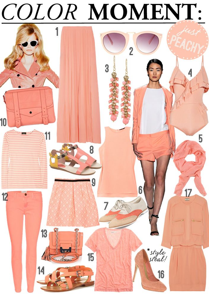 love peach! >> Color Moment: #PeachSummer Fashion, Coral Pink, Fashion Style Beautiful, Pink Outfits, Blog, Peaches, Jelly Beans, Colors Moments, Outfit Colors