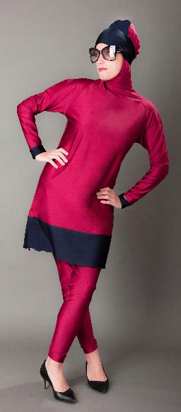 JUPETTE - Cherry  Style yourself with the newest model of Jupette! Exotic hues of Cherry red and dark blue color. Coverable collections of fabrics perfect for year round use. Versatile for swim and sport. Size:S-M-L €123.00  #paris #modestwear #longsleevesdress #muslim #modestfashion #hijabswimsuit #paris #fashionhijabi #madammebk #madeinfrance #fajxv #hijabfashion #chichijab #muslimswimsuit #muslimswimwear