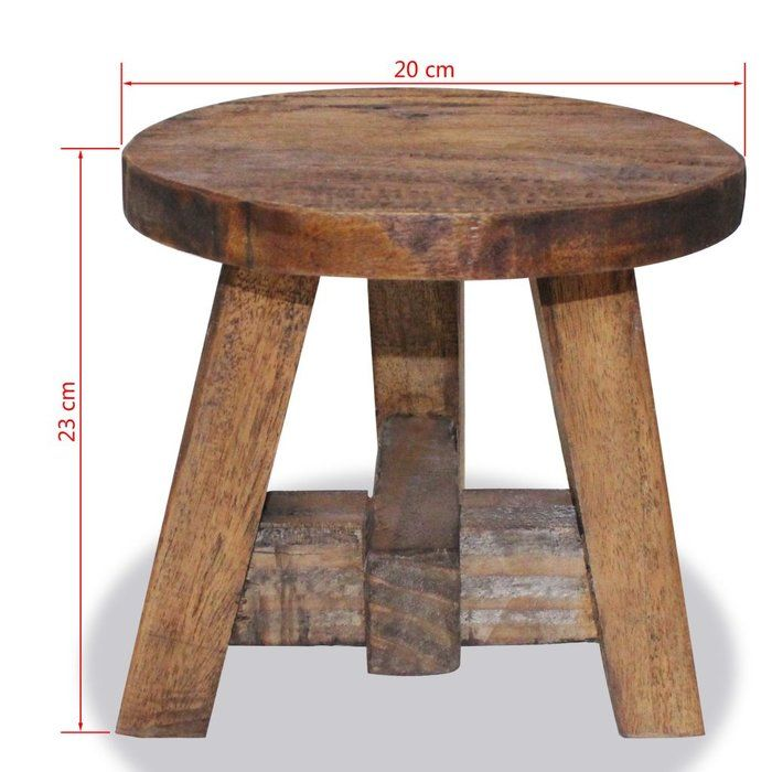 Vidaxl Solid Wood Accent Stool Wayfair Wood Stool Handmade Stool Rustic Stools