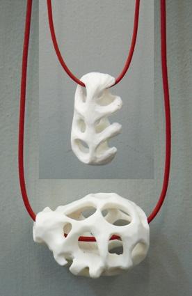 Porcelain jewellery by Marlize Myburgh