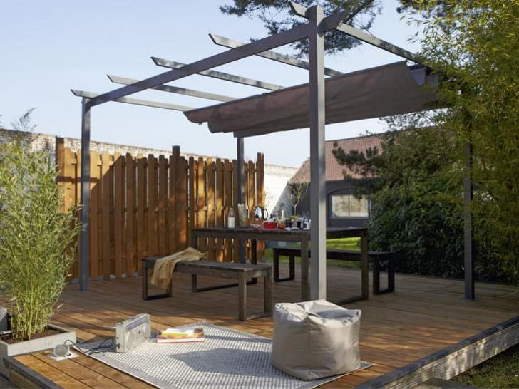 Patio Covers Ideas And Tips Shade Canopy Pergolas Patio Pergola Small Outdoor Spaces