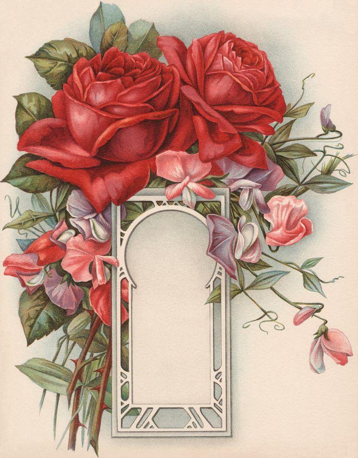 Illustration of Flowers Around Keyhold Design: