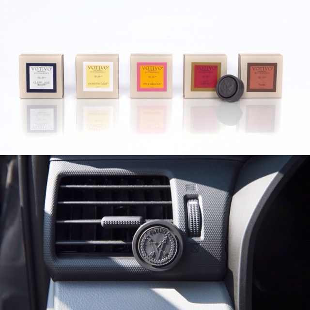 Take your favorite fragrance on the go with our new auto vent clips! #votivo #fragrance #cars