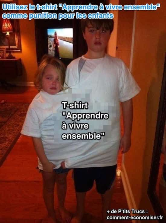 un t-shirt pour gérer les disputes