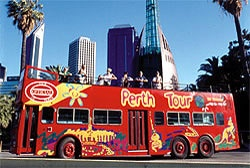 Open Top Double Decker Bus Perth City Tour , Perth. Yes we did!!!