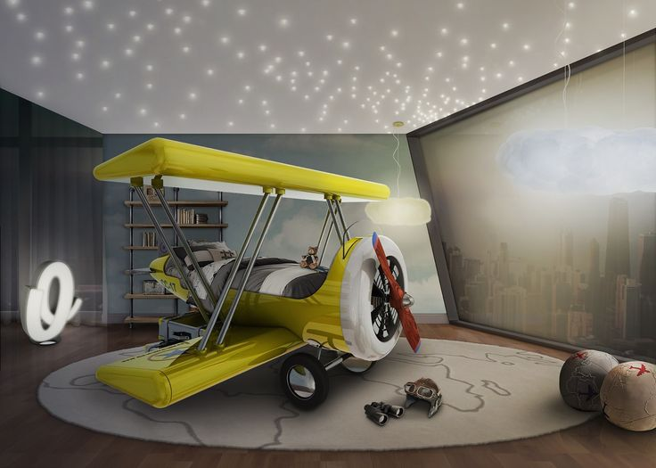 Create A Luxurious And Unique Decoration For The Kidsu0027 Room With These  Plane Themed Projects