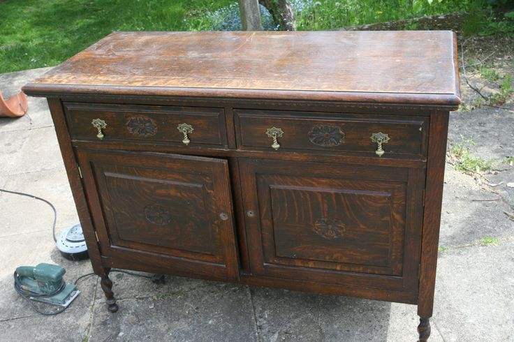 The victorian cupboard - purchased for £45 on Ebay, before undergoing its transformation