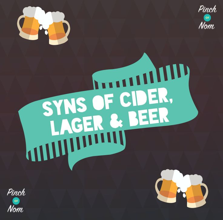 Guide To Cider, Lager & Beer Syns | Slimming World - https://pinchofnom.com/2016/05/cider-lager-beer-syns-slimming-world/