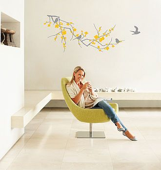 Best VINYL Adhesives Images On Pinterest - Yellow flower wall decals