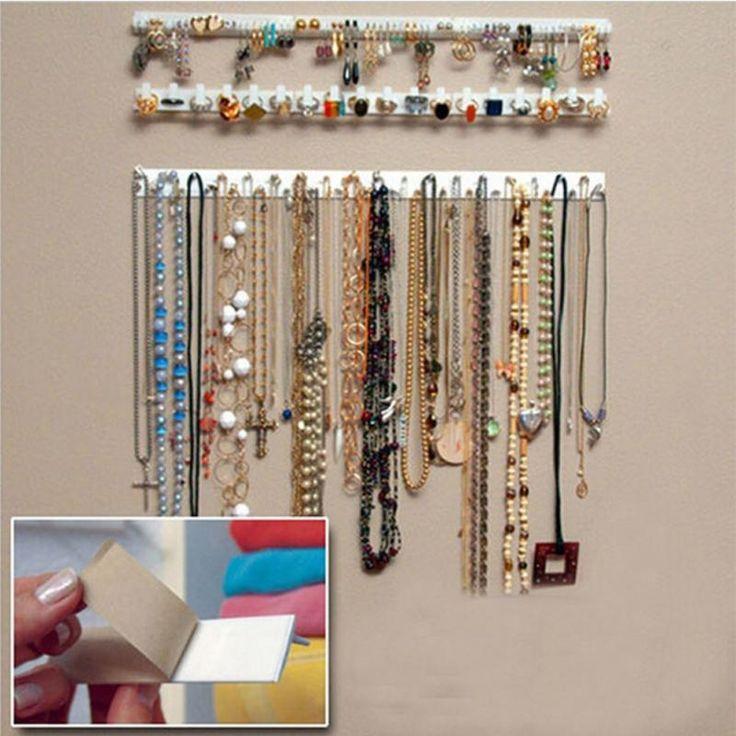 Nova Desigh 9 em 1 adesivo pasta de armazenamento decoração de parede ganchos jóias mostrar organizador cabide colar em Exposição & embalo de jóias de Jóias no AliExpress.com | Alibaba Group