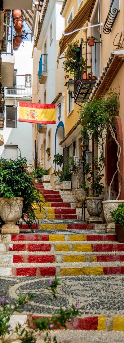 Streets in Calpe Old Town in Marina Alta - Alicante | Spain                                                                                                                                                                                 More
