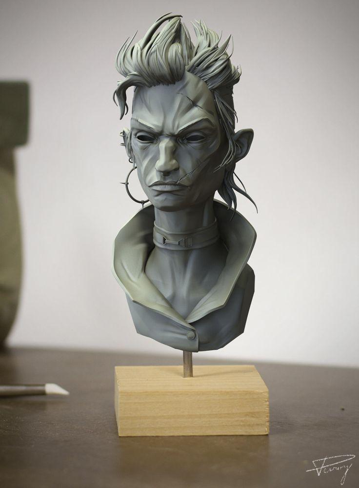 Deadeels Gang Girl, Julien Desroy on ArtStation at https://www.artstation.com/artwork/deadeels-gang-girl