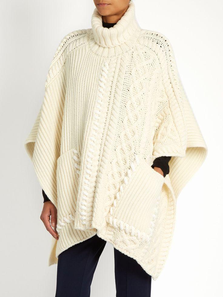 Roll-neck wool poncho    Fendi   MATCHESFASHION.COM UK