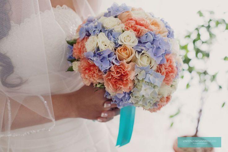 Original fresh wedding bouquet by Michela & Michela www.italianweddingcompany.com