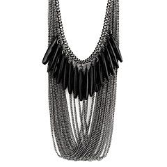 Fashion Black Multilayer druppel ketting N59 – EUR € 3.99