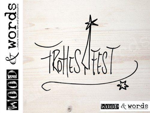Stempel Frohes Fest - Typo mit Baum Textstempel - Motivstempel - Weihnachten