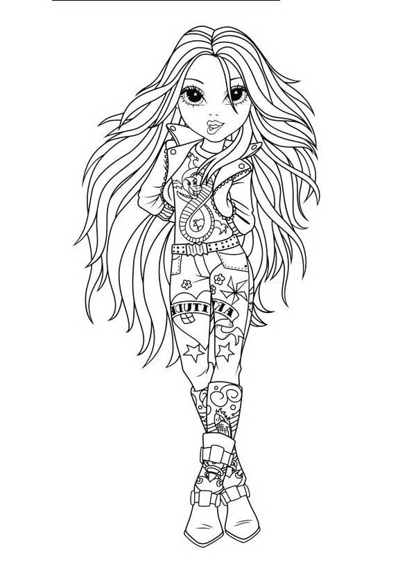 Free moxie girls coloring pages ~ 51 best images about Moxie Girlz & Bratz ~ Coloring Pages ...