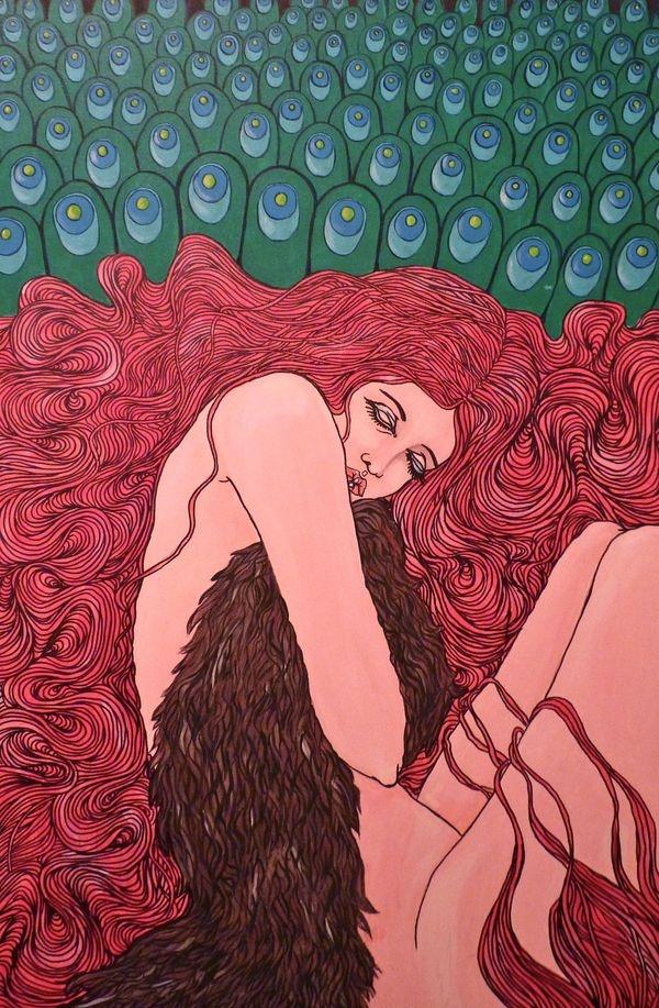 Paintings on canvas by vanessa van meerhaeghe, via Behance
